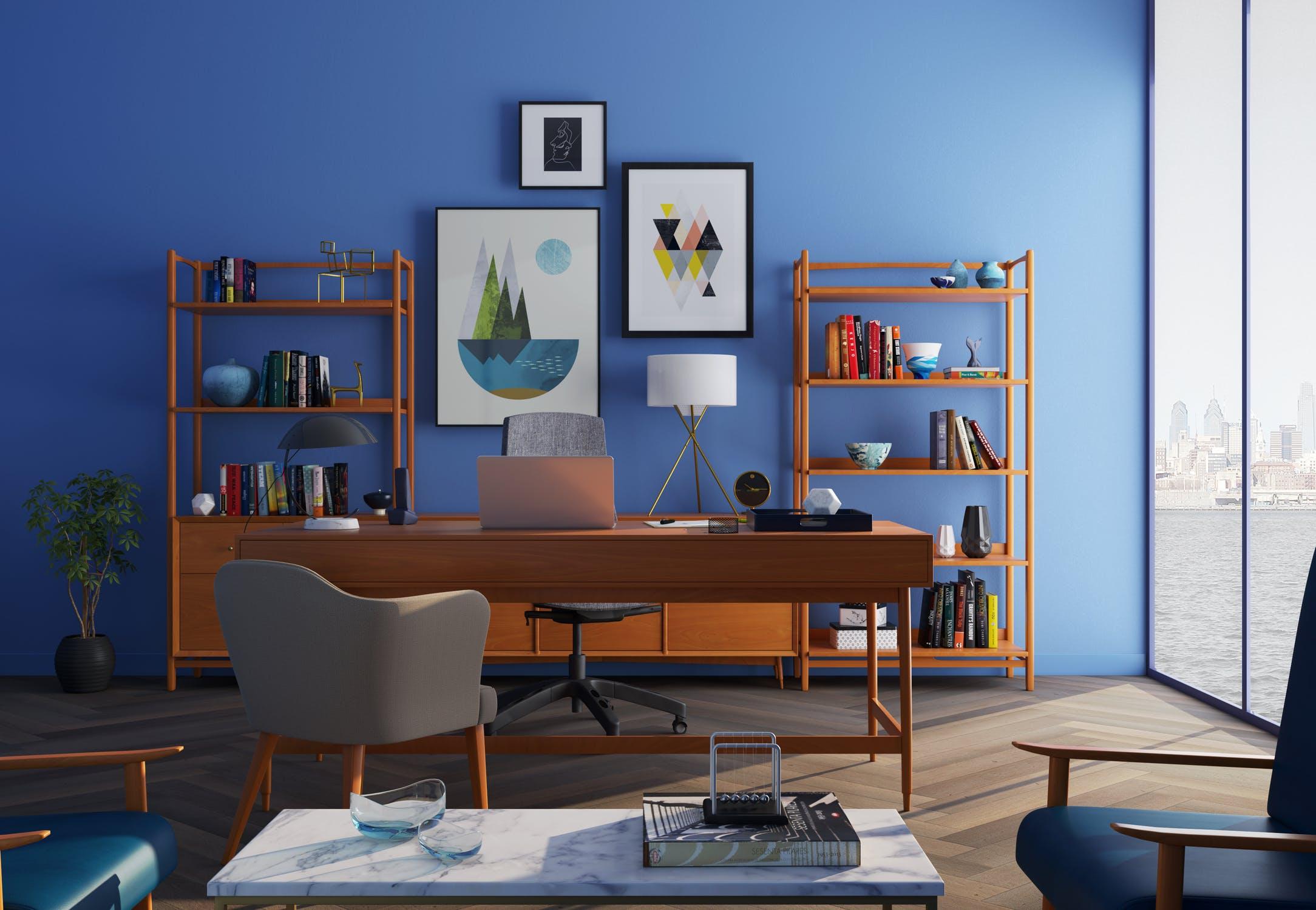 En blå væg