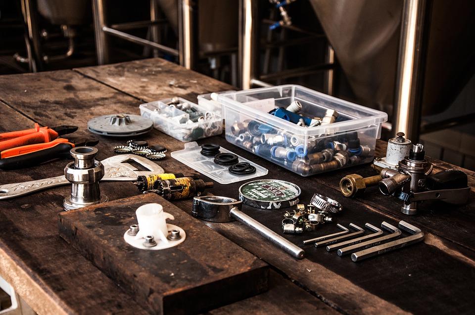 værksted med værktøj